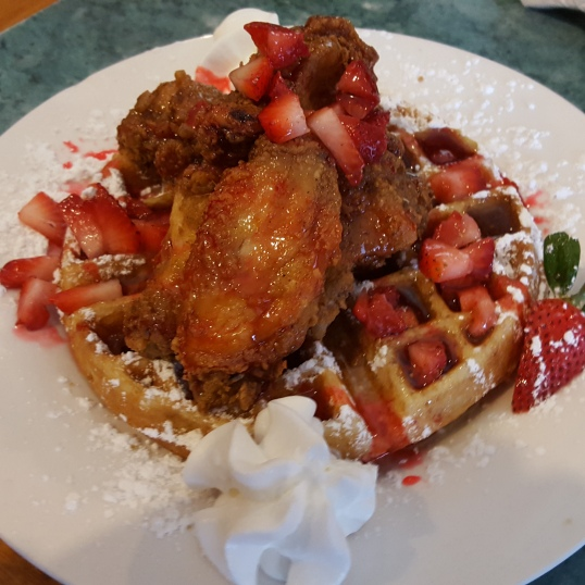 Strawberry Shortcake Fried Chicken And Waffles