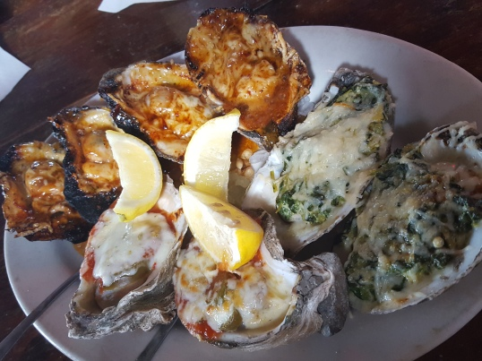 Pearls Oyster House- Char Grilled, Rockefeller, and Hot Shucks Oysters
