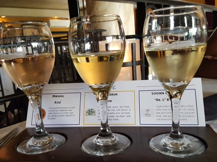 Flight Restaurant and Wine Bar- Miraval Rose, Conundrum Blend, and Riesling