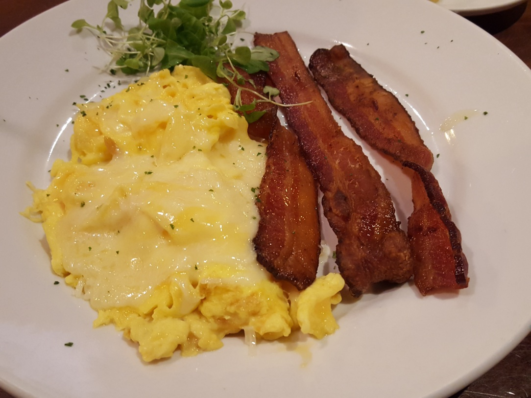 shirleys- cheese eggs and bacon